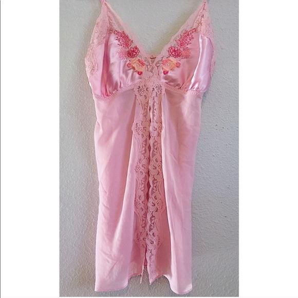 c96bda05f28 Vintage 60s Sexy Light Pink Silk Floral Lingerie
